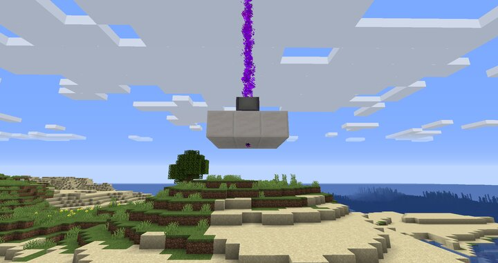 Place a quartz block on the bottom of the Waypoint to make the beam go up.