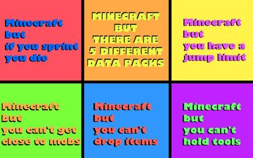 Minecraft But there are five different data packs! Minecraft Data Pack