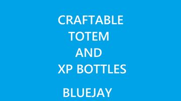 Craftable totem and xp bottles Minecraft Data Pack