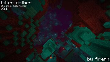 Taller Nether v2.3: Make the Nether generate 256 blocks high! Minecraft Data Pack