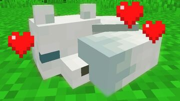 Minecraft but you are a white fox Minecraft Data Pack