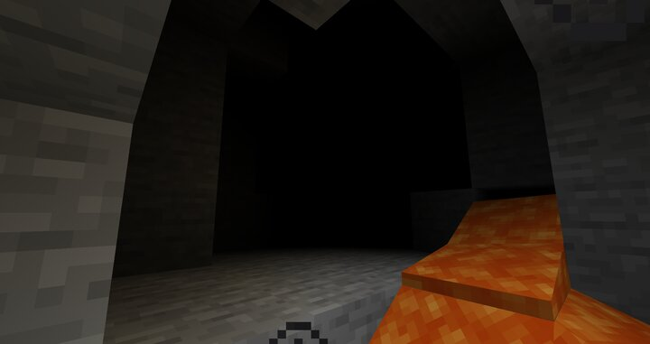 Caves are much darker and you will occasionally get blindness!