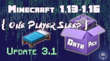 🛌 One Player Sleep Data Pack (Minecraft 1.15) Minecraft Data Pack