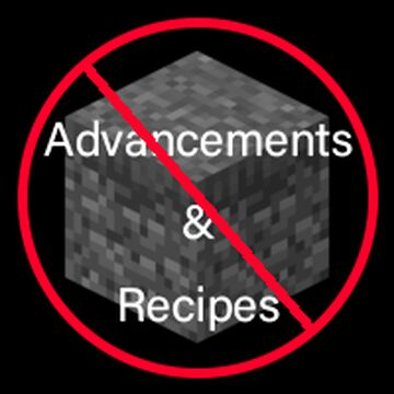 Disable Vanilla Advancements and Recipes! Minecraft Data Pack
