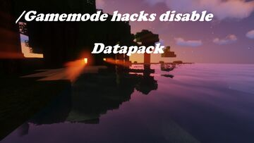 Gamemode hack disable Minecraft Data Pack