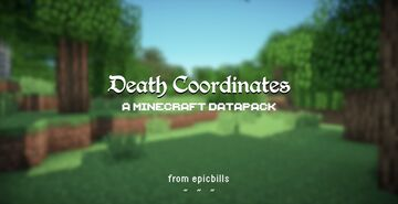 ☠ Death Coordinates ☠ Minecraft Data Pack