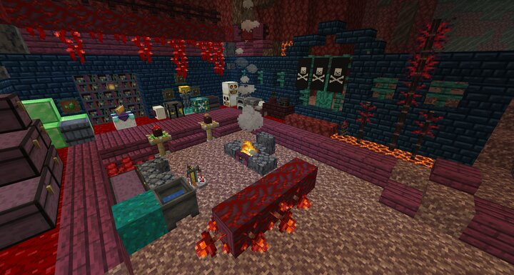 It's not very cozy, but the Nether can be a place you can call home if you put in the effort.