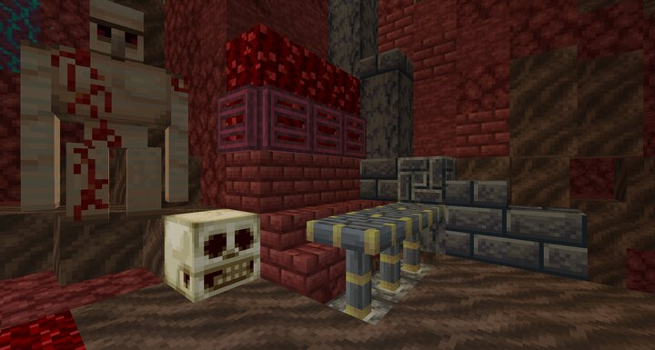 Decorate your abode with slate netherrack and various bricks.