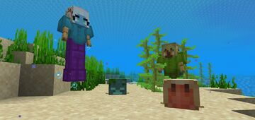 Player Flight (No Elytra) and Gills (Fantasy Creatures Traits) Minecraft Data Pack