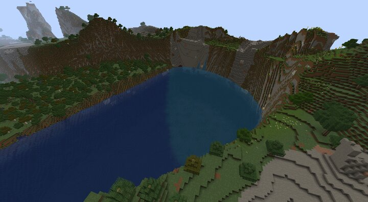 A peaceful crater lake