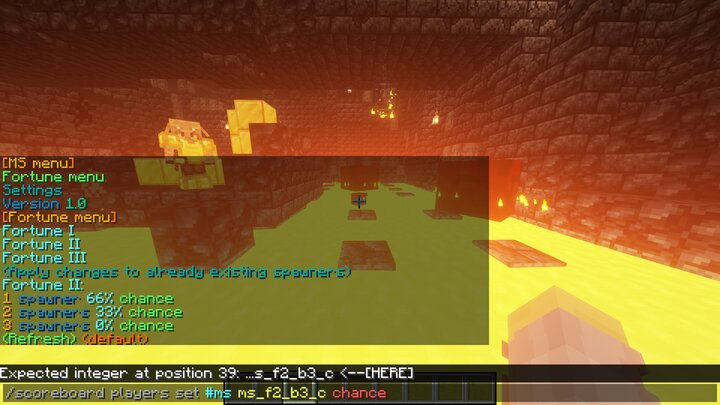 Changing chances fortune 2, this won't effect the default fortune of Minecraft