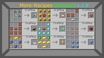 More-Recipes Minecraft Data Pack