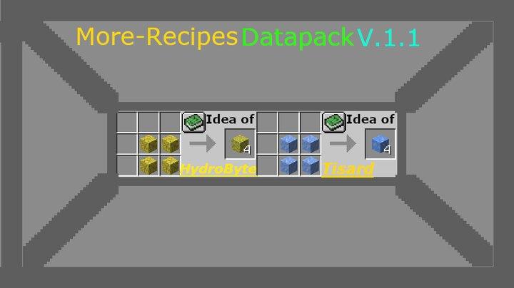 More-Recipe Datapack Update v.1.1
