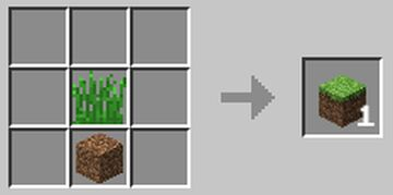 Grass block recipe Minecraft Data Pack