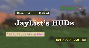 JayList's HUDs (waypoints, multiplayer-compatible, no /op required, 1.14+) (broken in 1.16) Minecraft Data Pack