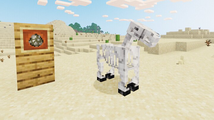 A skeleton horse I spawned in.