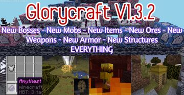 Glorycraft v1.3.2  New Mobs Bosses Ores Armor Structures Weapons Items  (PLEASE LEAVE FEEDBACK) Minecraft Data Pack