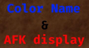Color names & AFK display Minecraft Data Pack