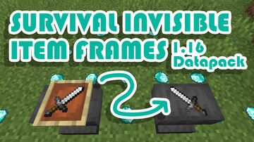 Easy Invisible Item Frames For Survival Minecraft Data Pack