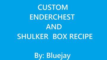 Custom Enderchest and Shulker Box Recepie Minecraft Data Pack