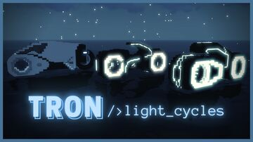[1.16.1 Vanilla] TRON Light Cycles in Vanilla Minecraft Minecraft Data Pack