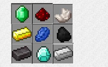 All of my data packs that are about ores Minecraft Data Pack