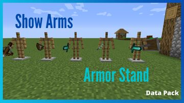 Show Arms Armor Stand Minecraft Data Pack