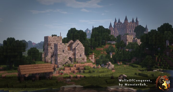 WallsOfConquest_ Datapack Conquest Resourcepack and ConquestOfTheSun shaders used in the picture