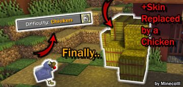 Minecraft but... you are a CHICKEN!!! Minecraft Data Pack