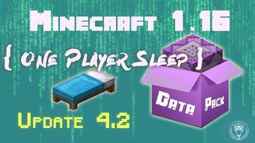 🛌 One Player Sleep v4 for Minecraft 1.16+ Minecraft Data Pack