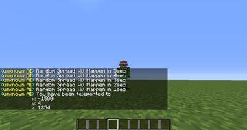 random tp every minute Minecraft Data Pack