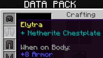 Armored Elytra Minecraft Data Pack