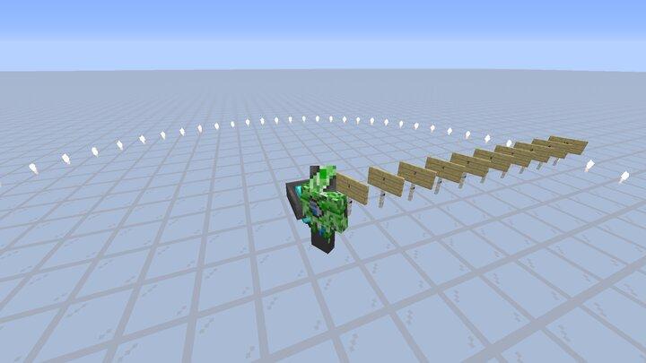 Pick-up range for a diamond hopper