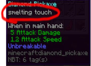 SMELTING TOUCH Minecraft Data Pack