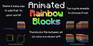 Animated Rainbow Blocks [Datapack] Minecraft Data Pack