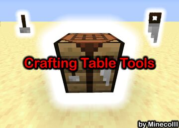 So i added the Crafting Table Tools to Minecraft... Minecraft Data Pack