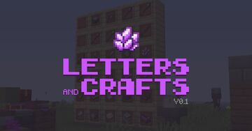 Letters and Crafts V0.1: Quests, Magic, New mobs/items/blocks... Minecraft Data Pack