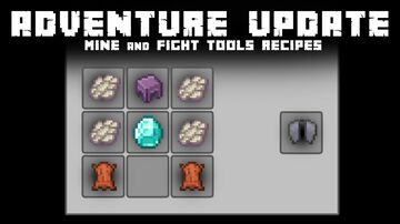 Adventure Update (Add recipes for mining and fighting tools + advancements) Minecraft Data Pack