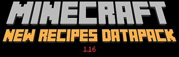 New crafting recipes Minecraft Data Pack