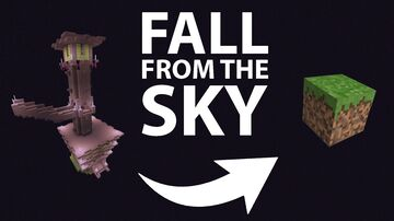 Fall from the Sky - No more void in the end Minecraft Data Pack