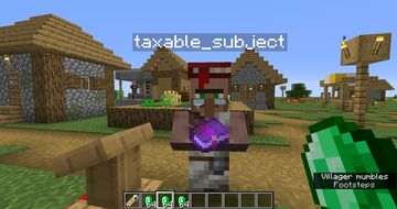 Villager Taxation System Minecraft Data Pack
