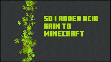 So I added acid rain into Minecraft Minecraft Data Pack