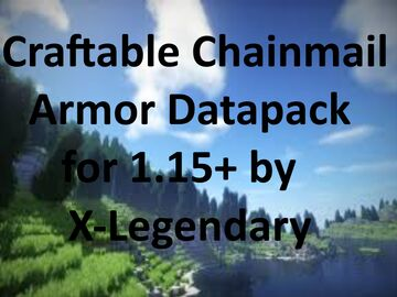 [1.15 - 1.16] Craftable Chainmail Armor Minecraft Data Pack