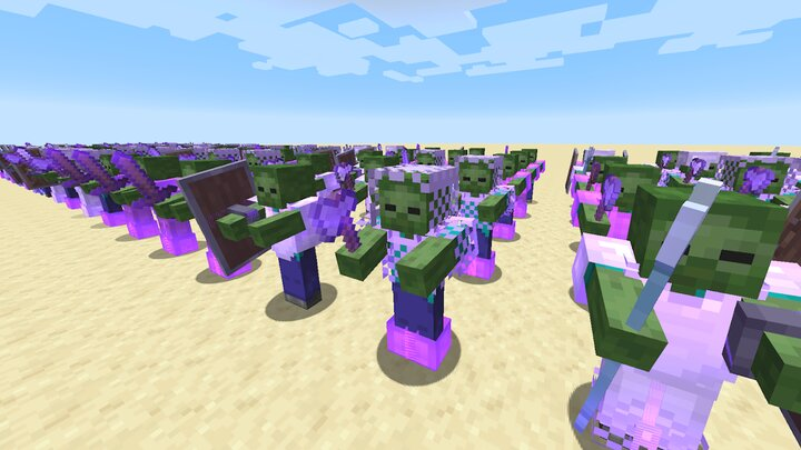 Zombie Army standing in formation