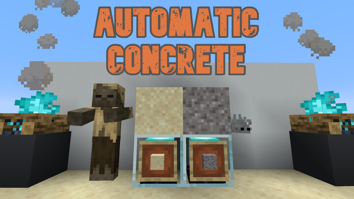 Better loot tables to support automatic concrete production!