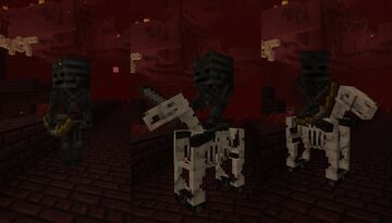 Archer Wither Skeletons and Wither Jockeys Minecraft Data Pack