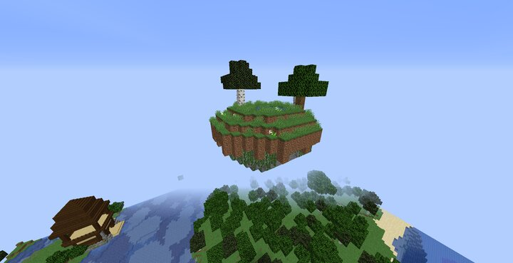 Sky Islands - with completely randomized ore generation! Go mining in the sky!