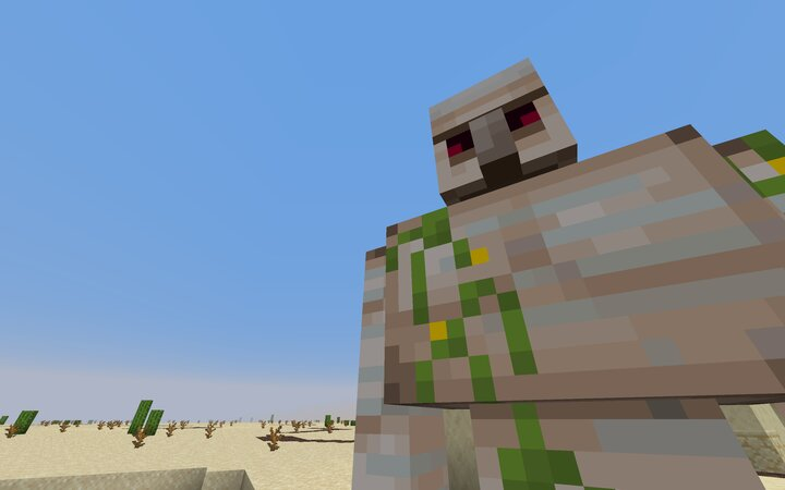 Iron Golems have been buffed with increased strength, speed and regeneration abilities to remain vigilant against mobs.
