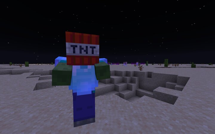 All the mobs are included in this datapack Explosive zombies, buffed ghasts, and other improvements.