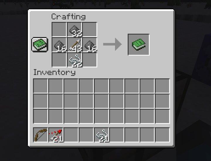 Explosive arrow crafting recipe